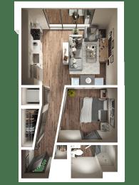 Arlie Floor Plan at Pier 33 Apartments, Wilmington, NC