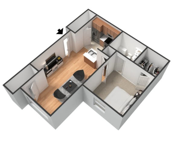 Floor Plan  1 Bed 1 Bath Floor Plan at The Boot Ranch Apartments, Palm Harbor, FL, 34685