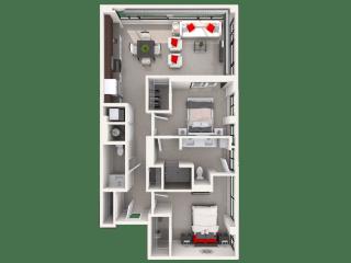 Mission Lofts Apartments 10d Floor Plan