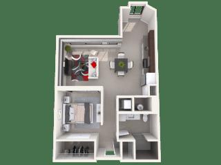 Mission Lofts Apartments 7a Unit Floor Plan