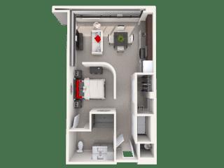 Mission Lofts Apartments 7b ADA Floor Plan