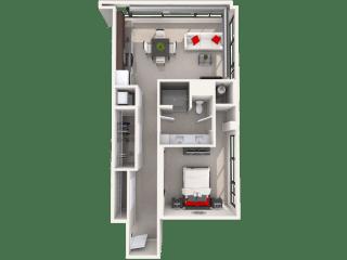 Mission Lofts Apartments 7c Floor Plan