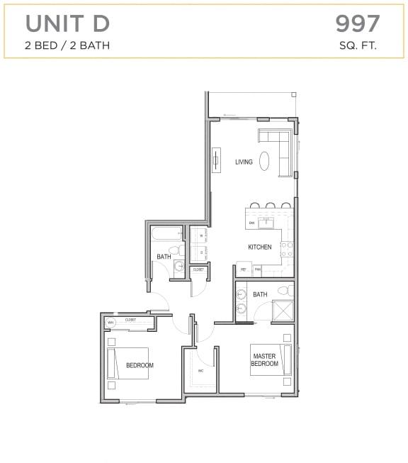 Floor Plan  Ascend Maple Valley Apartments Unit D Floor Plan