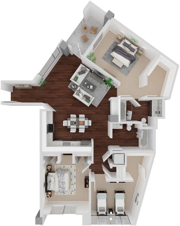 Floor Plan  Venn on Market|Duboce