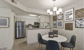 Dining room and Kitchen area with modern appliances
