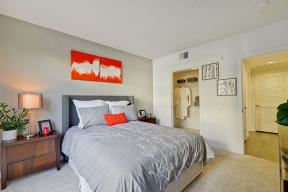 One Bedroom Apartments in Cambell CA-Revere Campbell Bedroom with Spacious Walk In Closet