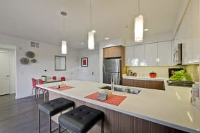 Apartments in Cambell CA-Revere Campbell Kitchen with Matching Appliances and Breakfast Bar
