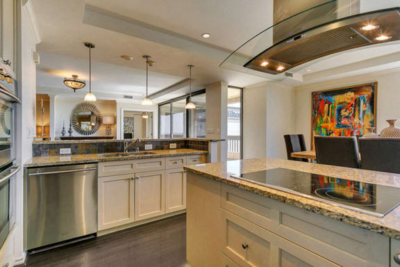 Large chef's kitchen with island