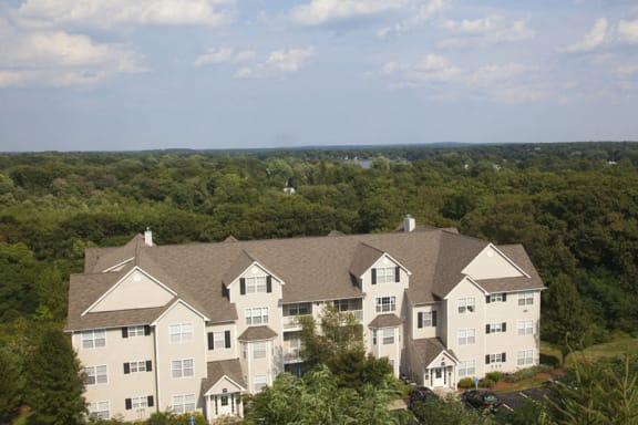 Panoramic View from Drone at The Ledges Apartments