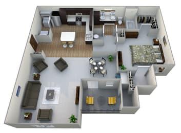 A2  3D Floor Plan