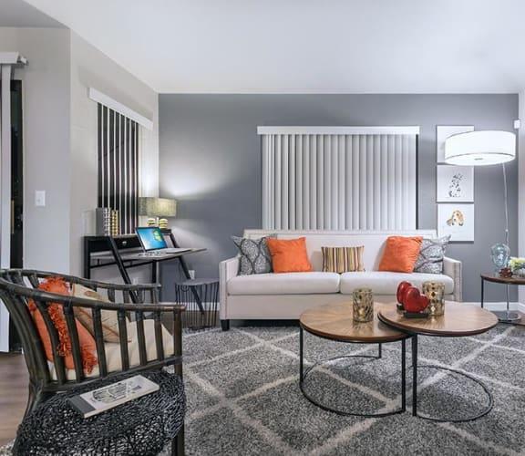 Model apartment living room