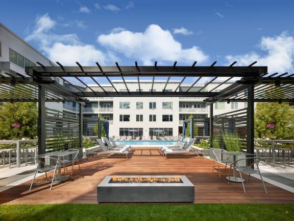 pool deck at AVE Florham Park, Florham Park