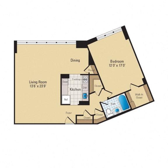 Floor Plan  A14 Premium