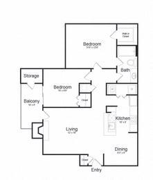 Floor plan at Lakeside Mill, Owings Mill, 21117