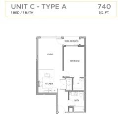 Ascend Maple Valley Apartments Unit C Floor Plan