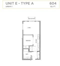 Ascend Maple Valley Apartments Unit E Floor Plan