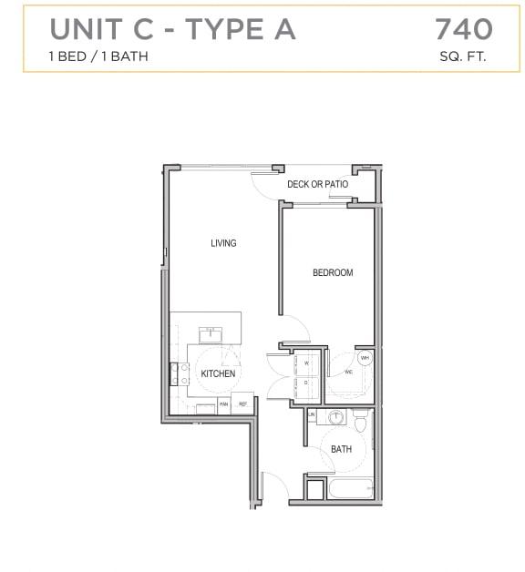 Floor Plan  Ascend Maple Valley Apartments Unit C Floor Plan