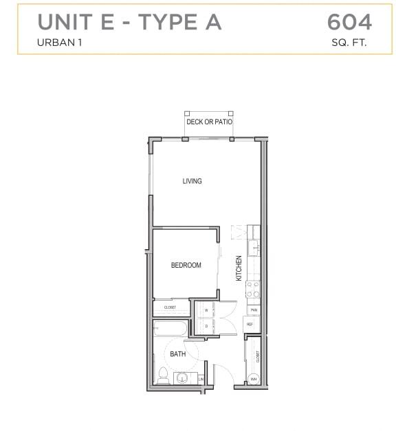 Floor Plan  Ascend Maple Valley Apartments Unit E Floor Plan