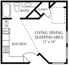 studio apartments near domain austin