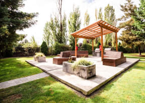 Tacoma Apartments - Monterra Apartments - Common Patio and Gas Grills