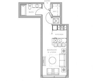 0 bedroom 1 bath 430 sq ft