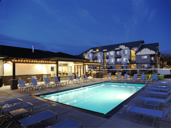 Heated Pool at Corso Apartments in Missoula, MT