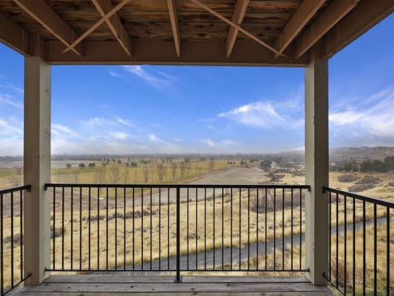Patio/Balcony at Columbia Village in Idaho, 83716