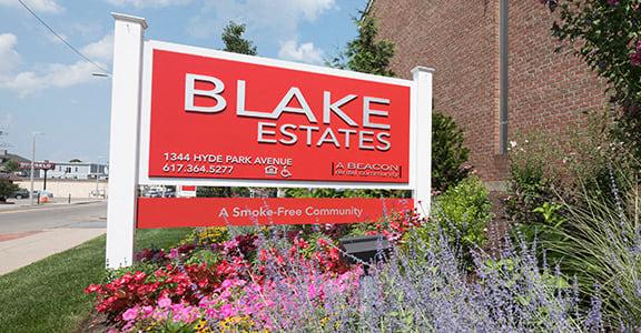Blake Estates independent senior living apartments in Hyde Park, MA