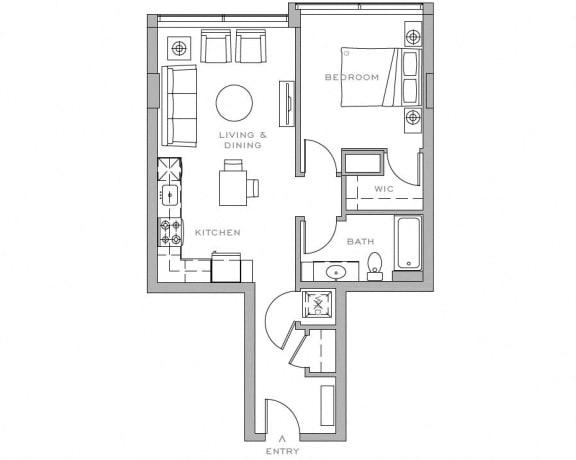 Floor Plan  Viktoria 1x1 F1