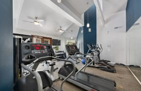 Fitness Room with equipment  l Enclave apartments in Paramount CA