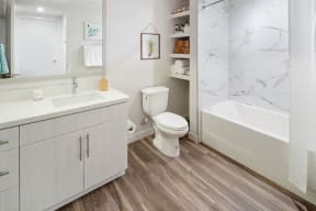 Bathroom with tub/shower and vanity