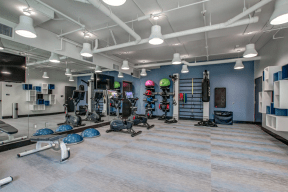 nVe at Fairfax fitness center with cardio and weight gym equipment