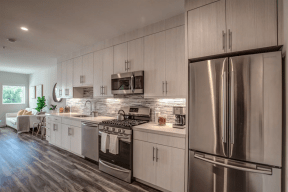 Kitchen with view to living room l  nve fairfax