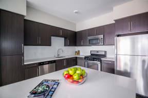 Los Angeles CA Apartments - Wakaba LA Kitchen with Island