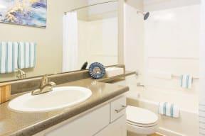 Bathroom  l Kirker Creek Apartments