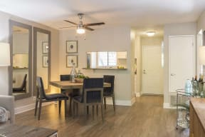 Dining area by kitchen  l Kirker Creek Apartments