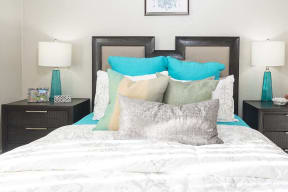 View of bed and night stands l Kirker Creek Apartments