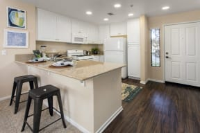 Kitchen with bar seating