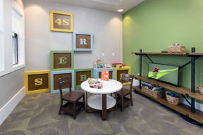 Community kid's room with TV and toys