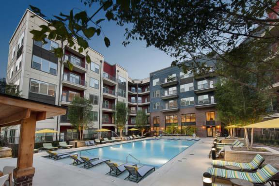 Beautiful Saltwater Pool at Atlanta Apartments for Rent Near You