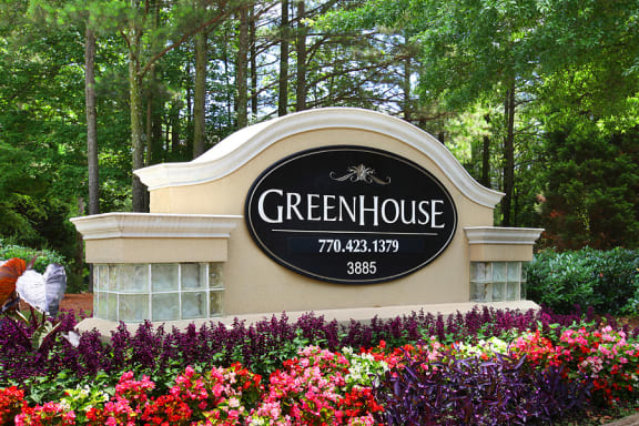 Sign for greenhouse apartments