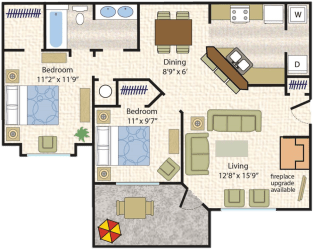 Floor Plan Mustang