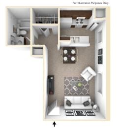 Studio, Larkspur Floor Plan at Lake in the Pines, Fayetteville