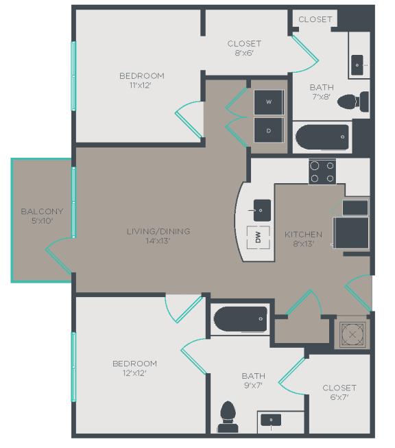 Floor Plan  B1-HC