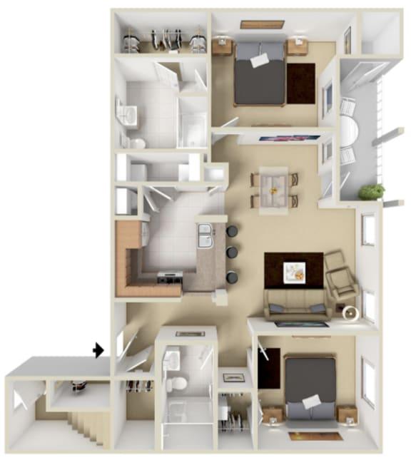 Floor Plan  Rainier Floor Plan at Overlook at Valley Ridge, Indianapolis, 46237