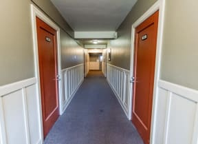 Seattle Apartments - Edwards on Fifth Apartments - Building Hallway