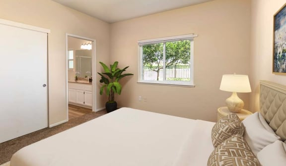 Bedroom 1 (furnished) | MaraLisa Meadows in Livermore, CA 94551