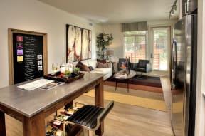 Santa Rosa CA Apartments For Rent Annadel l KItchen and living room