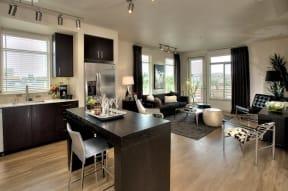 Kitchen and living room l Annadel Apartments For Rent  Santa Rosa CALIFORNIA 95401