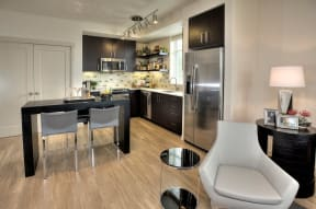 Kitchen and living room l Annadel Apartments For Rent in Santa Rosa Ca 95401